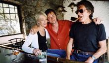 Jacques Dutronc,  Thomas Dutronc et Françoise Hardy