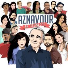Aznavour - Sa jeunesse (pochette de l'album)